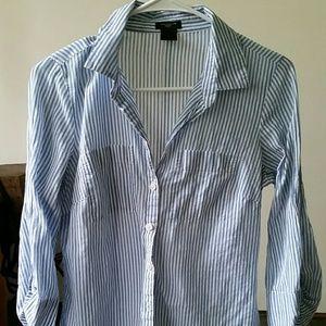 6P Ann Taylor button down long sleeve collar shirt